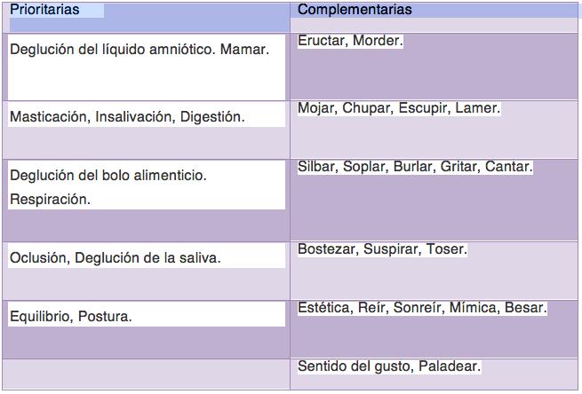 Funciones de la boca Ballina
